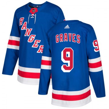 Adidas New York Rangers Men's Adam Graves Authentic Royal NHL Jersey