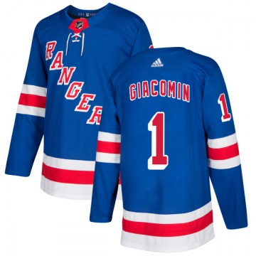 Adidas New York Rangers Men's Eddie Giacomin Authentic Royal NHL Jersey