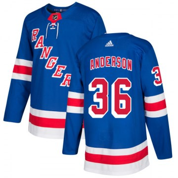 Adidas New York Rangers Men's Glenn Anderson Authentic Royal NHL Jersey