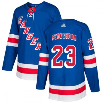Adidas New York Rangers Men's Jeff Beukeboom Authentic Royal NHL Jersey