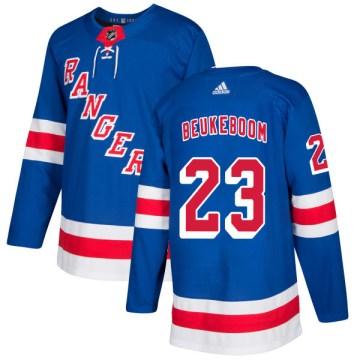 Adidas New York Rangers Men's Jeff Beukeboom Authentic Royal NHL Jersey