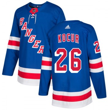 Adidas New York Rangers Men's Joe Kocur Authentic Royal NHL Jersey