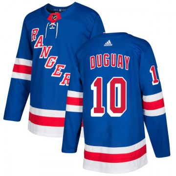 Adidas New York Rangers Men's Ron Duguay Authentic Royal NHL Jersey