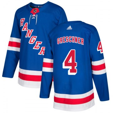 Adidas New York Rangers Men's Ron Greschner Authentic Royal NHL Jersey