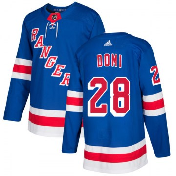 Adidas New York Rangers Men's Tie Domi Authentic Royal NHL Jersey