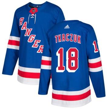 Adidas New York Rangers Men's Walt Tkaczuk Authentic Royal NHL Jersey