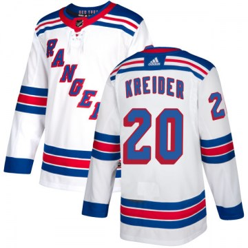 Adidas New York Rangers Men's Chris Kreider Authentic White NHL Jersey