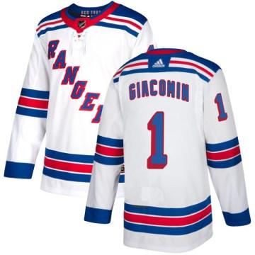 Adidas New York Rangers Men's Eddie Giacomin Authentic White NHL Jersey