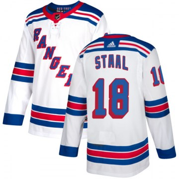 Adidas New York Rangers Men's Marc Staal Authentic White NHL Jersey