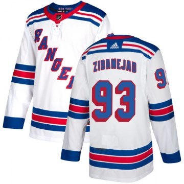 Adidas New York Rangers Men's Mika Zibanejad Authentic White NHL Jersey