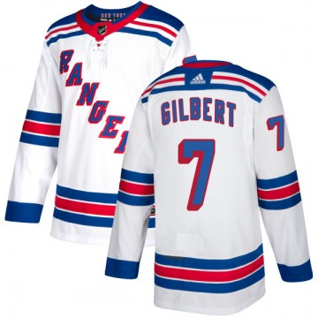 Adidas New York Rangers Men's Rod Gilbert Authentic White NHL Jersey