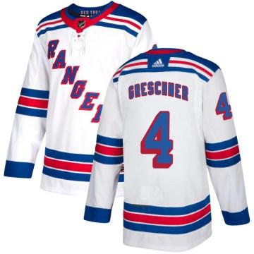 Adidas New York Rangers Men's Ron Greschner Authentic White NHL Jersey