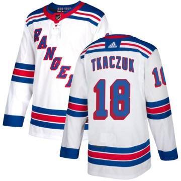 Adidas New York Rangers Men's Walt Tkaczuk Authentic White NHL Jersey