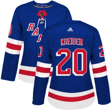 Adidas New York Rangers Women's Chris Kreider Authentic Royal Blue Home NHL Jersey