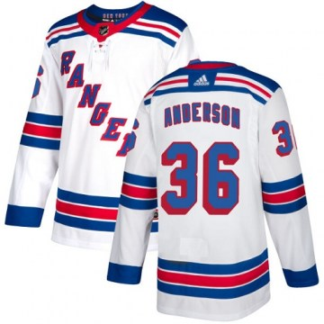 Adidas New York Rangers Women's Glenn Anderson Authentic White Away NHL Jersey