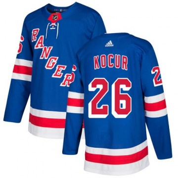 Adidas New York Rangers Youth Joe Kocur Authentic Royal Blue Home NHL Jersey