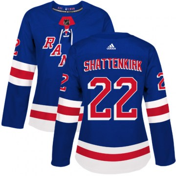 Adidas New York Rangers Women's Kevin Shattenkirk Authentic Royal Blue Home NHL Jersey