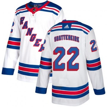 Adidas New York Rangers Youth Kevin Shattenkirk Authentic White Away NHL Jersey