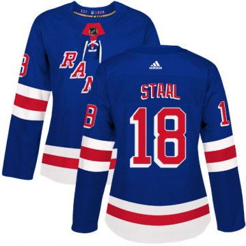 Adidas New York Rangers Women's Marc Staal Authentic Royal Blue Home NHL Jersey