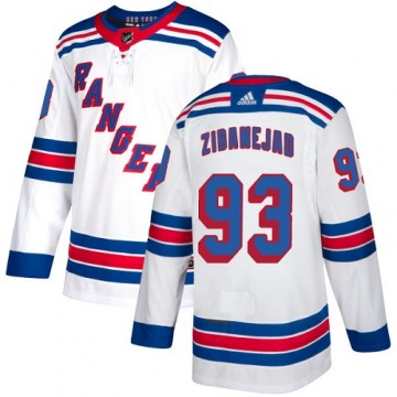 Adidas New York Rangers Women's Mika Zibanejad Authentic White Away NHL Jersey