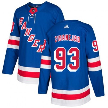 Adidas New York Rangers Youth Mika Zibanejad Authentic Royal Blue Home NHL Jersey