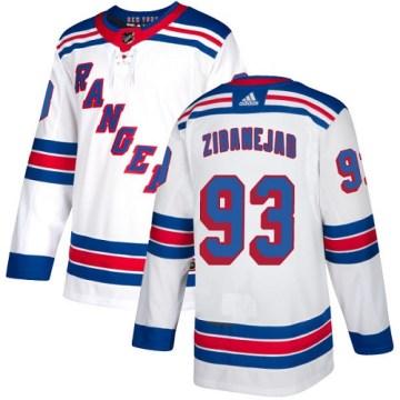 Adidas New York Rangers Youth Mika Zibanejad Authentic White Away NHL Jersey