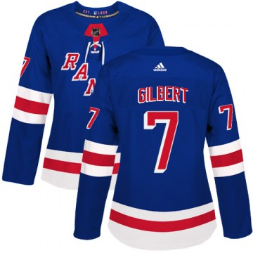Adidas New York Rangers Women's Rod Gilbert Authentic Royal Blue Home NHL Jersey