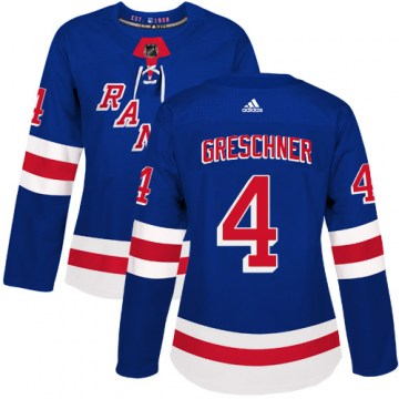 Adidas New York Rangers Women's Ron Greschner Authentic Royal Blue Home NHL Jersey