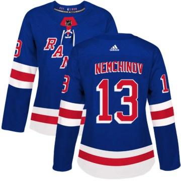 Adidas New York Rangers Women's Sergei Nemchinov Authentic Royal Blue Home NHL Jersey