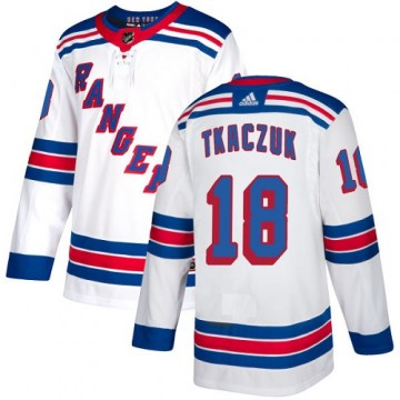 Adidas New York Rangers Women's Walt Tkaczuk Authentic White Away NHL Jersey