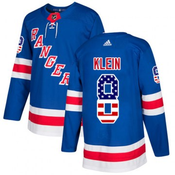 Adidas New York Rangers Men's Kevin Klein Authentic Royal Blue USA Flag Fashion NHL Jersey