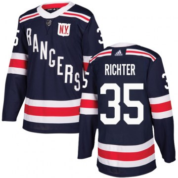 Adidas New York Rangers Youth Mike Richter Authentic Navy Blue 2018 Winter Classic NHL Jersey